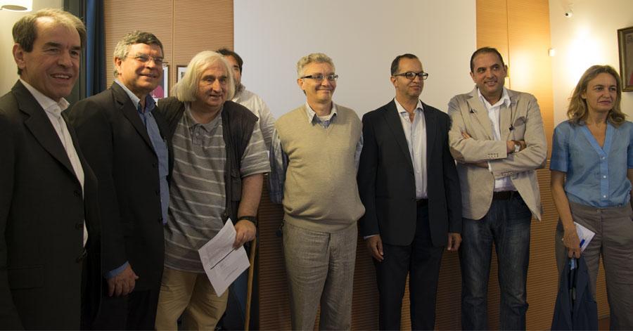 I relatori del  convegno su cristianesimo e islam promosso dall'Accademia Cattolica a Brescia